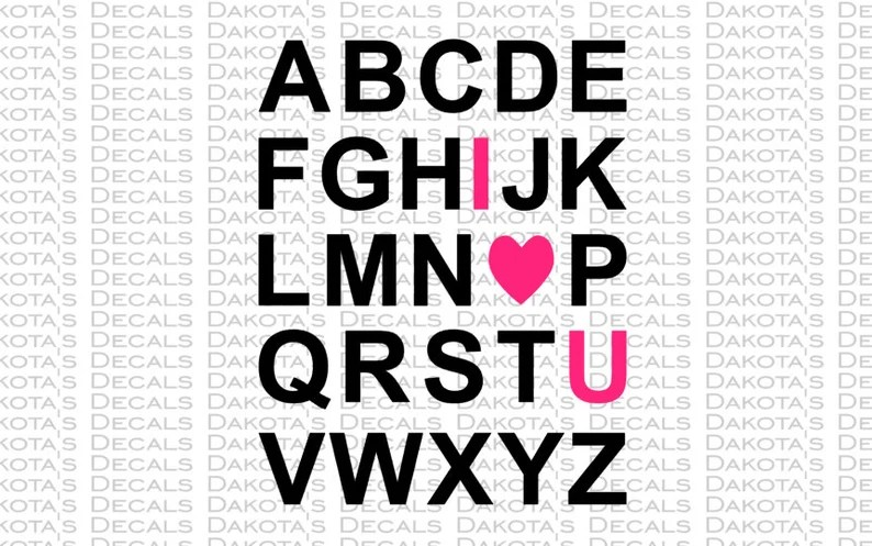 Download ABC I love you SVG for Download   Etsy