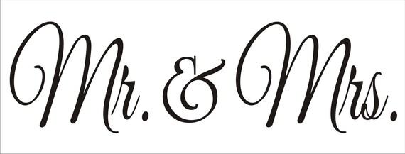 Mr & Mrs Reusable Stencil Reusable Stencil 7sizes
