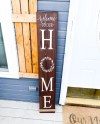 Welcome To Our Home Wood Sign Front Door Sign Home Front Etsy