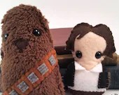 Han Solo and Chewbacca plushies (made to order)