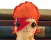David Bowie / Aladdin Sane plushie (made to order)