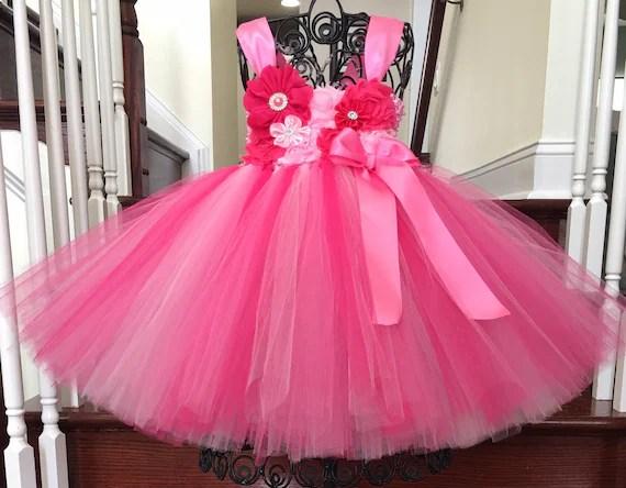 Pink 1st Birthday Tutu Dress 1st Birthday Dress Cake Smash Etsy