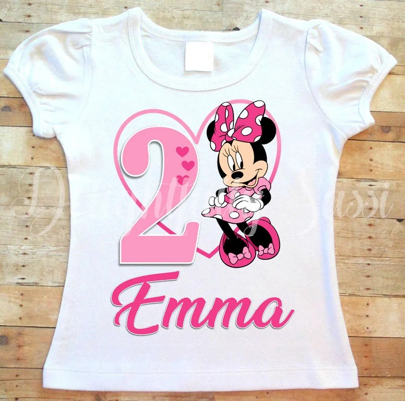 Minnie Mouse Birthday Shirt Minnie Mouse Shirt Personalized Etsy