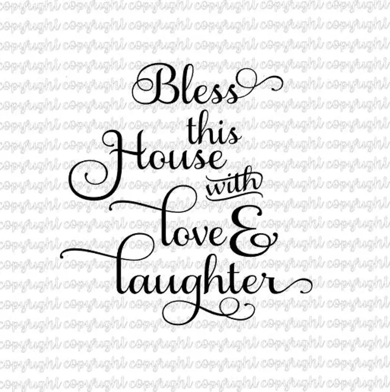 Download Bless this house with love and laughter SVG DXF cut file ...