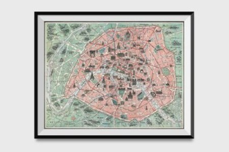 Paris France Map With Landmarks Full HD MAPS Locations Another - Things to see in paris map