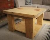 square wooden coffee tabl...