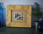 wooden picture & photo frame 10 X 8, high quality crafted eco thick wood frame, landscape, custom handmade modern rustic style, Somerset UK