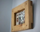 wood picture photo frame 5 X 7 high quality crafted thick eco wood frame, Landscape & Portrait - custom sizes - modern rustic in Somerset UK