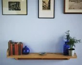 wall shelf in chunky wood...