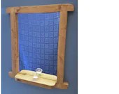 Tall wooden mirror with s...