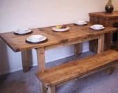 handmade large wooden din...