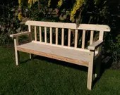 garden bench seat, solid ...