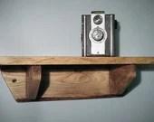 small wood shelf, chunky ...