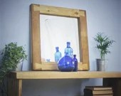 Wooden wall mirror, unusu...