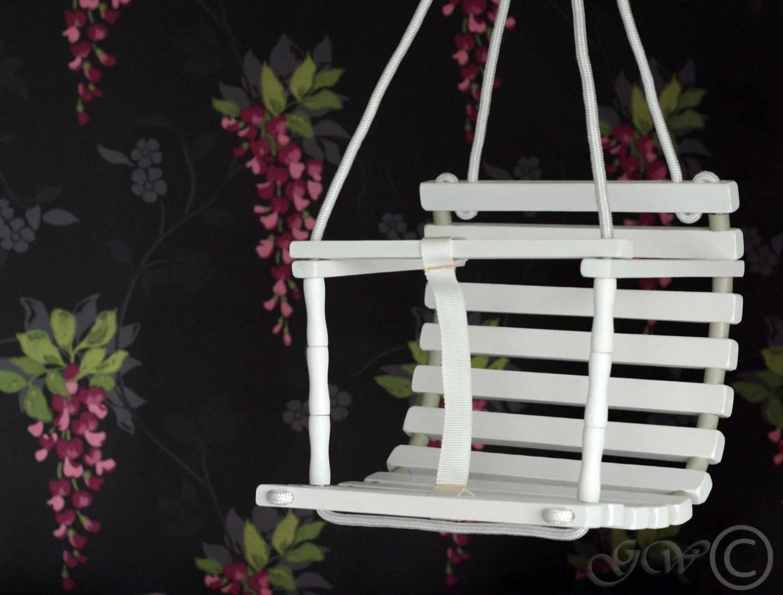 Personalized Wooden Handmade Swing Baby Swing Handmade image 3