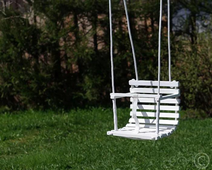 Personalized Wooden Handmade Swing Baby Swing Handmade image 1
