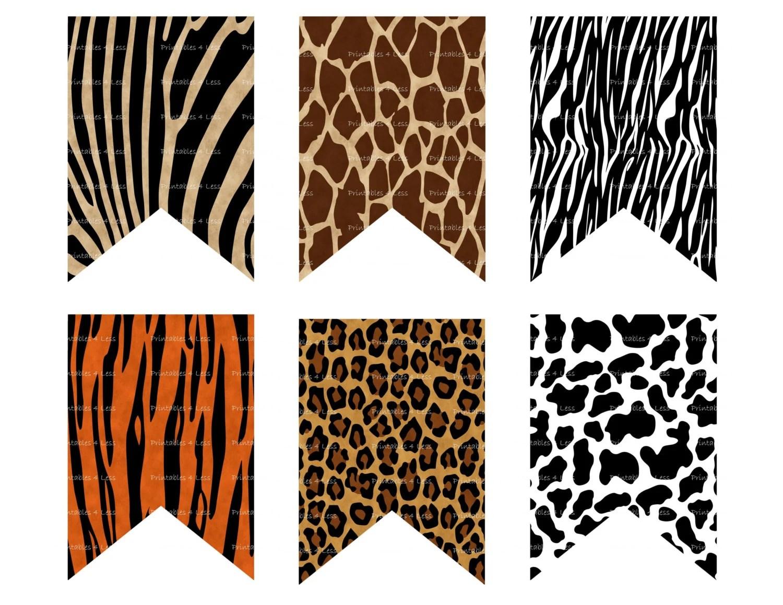 Animal Print Banner Wild Animal Banner Safari Banner Jungle