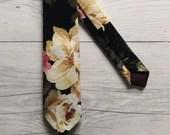 Black Floral Skinny Tie...