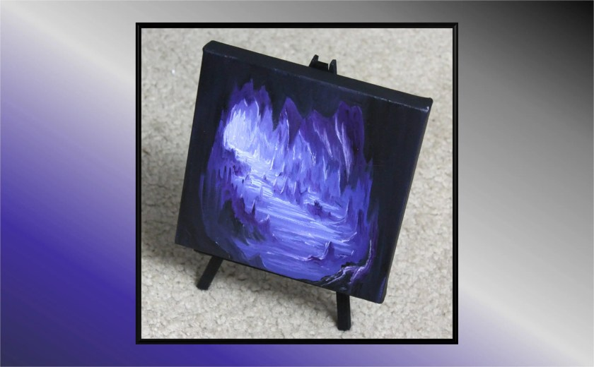 "6x6"" Mini Painting, Original Oil Painting - Landscape Cave Canvas Wall Art"