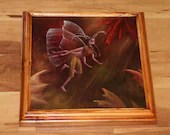 "10x10"" Original Oil Painting - Autumn Fairy Faerie Fae Pixie in Forest - Wall Art"