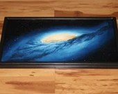 "12x24"" Original Oil Painting - Andromeda Galaxy Nebula Outer Space Deep Space Astronomy Stars Starry Wall Art"