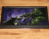 "8x16"" Original Oil Painting - Dragons of Ara Nebula Galaxy Outer Space Deep Space Astronomy Stars Starry Wall Art"