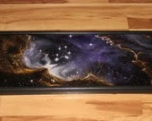 "12x36"" Original Oil Painting - NGC 602 Star Cluster Nebula Galaxy Outer Space Deep Space Astronomy Stars Starry Wall Art"