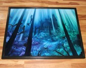 "30x40"" Original Oil Painting - Mermaid Castle Underwater Fish Ocean Fantasy Art - Giant Large Wall Art"