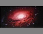 "Art PRINT - Unbarred NGC 3169 Galaxy - Outer Space Nebula Astronomy Wall Art - Choose Size 5x10"", 6x12"" 8x16"" PRINTS"