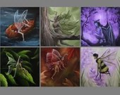 """4x4"""" Magnet Fairies Fairy Faerie Enchanted Forest Trees Dark Woods Fantasy Art Print Refrigerator Thin Flat Square Magnet Stocking Stuffers"""