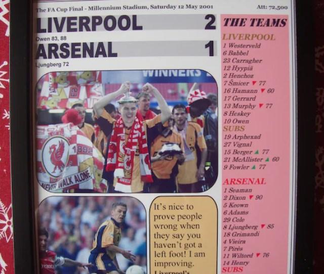 Liverpool   Fa Cup Final Souvenir Print