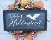 Happy Halloween Whitewashed Style Sign