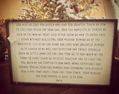 Prayer Sign (as seen in Danielle Busby's Home)