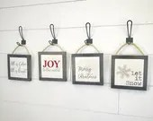 Farmhouse Christmas mini hanging signs