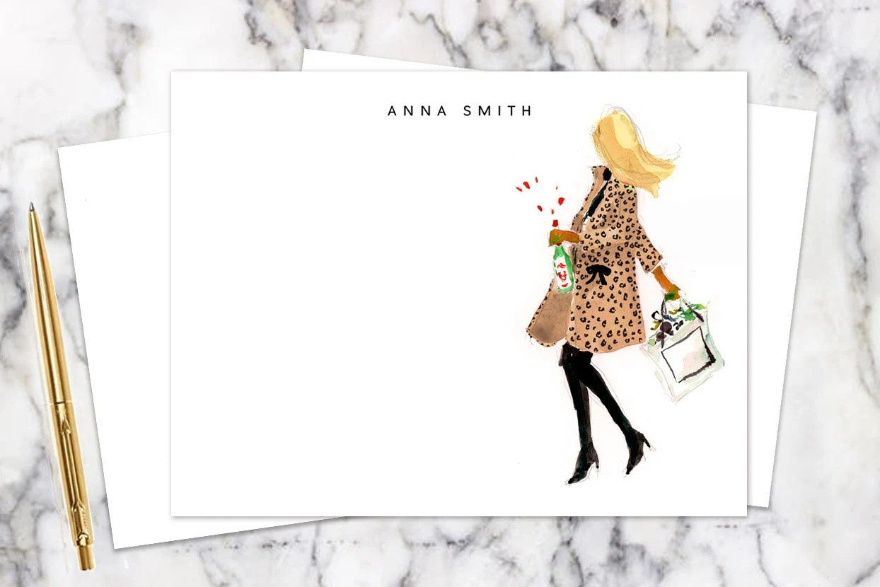 More colours                                                                                Personalized Stationery Girl: Leopard Coat {Stationary Notecards, Personalized, Monogrammed, Monogram, Custom, Fashion Drawing, Girly}                                                                ALLLLLLdLLLL LLLbLLLLyLL LLAThingCreated         Ad from shop AThingCreated                               5 out of 5 stars                                                                                                                                                                                                                                                          (2,816)                 2,816 reviews                                                      CA$36.26                                                              Bestseller