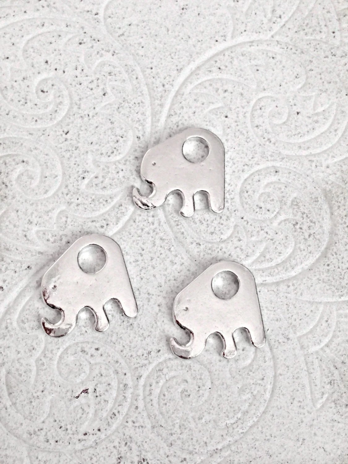 Pewter Stamping Blanks Elephant Hand Stamping Blank Aluminum