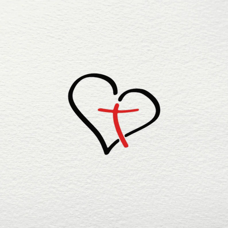 Download Heart Cross SVG Hope Faith Love Blessed Christian Jesus ...