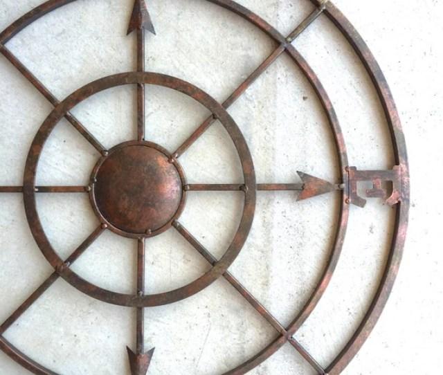 Compass Metal Compass Nautical Decor Metal Compass Etsy