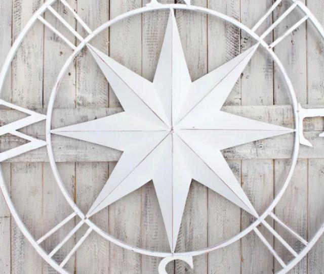 Compass Wall Art Metal Compass Wall Art Nautical Etsy