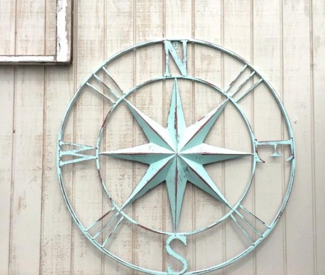 Nautical Compass Wall Art Nautical Decor Nautical Etsy