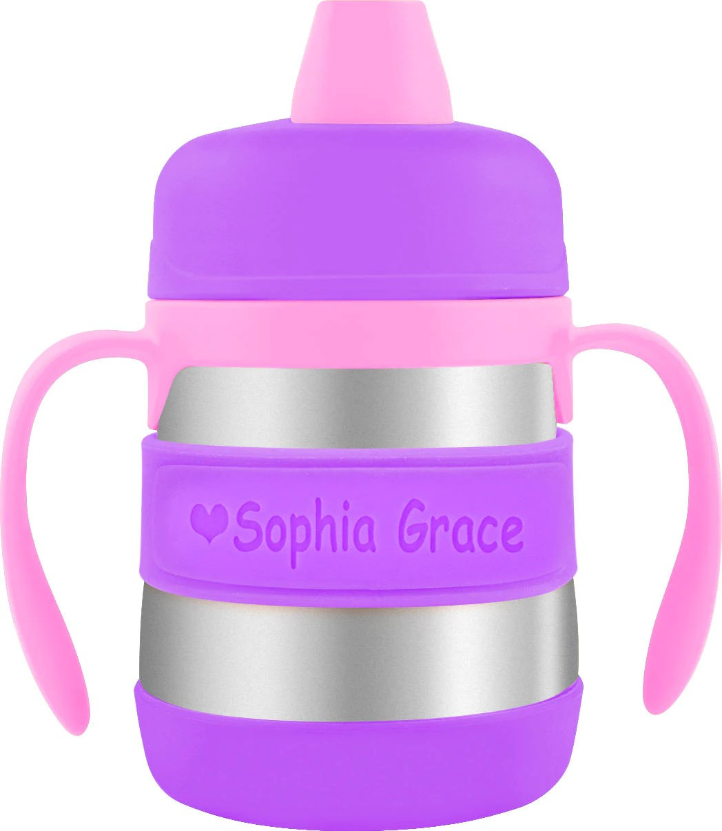 PACK of 3 Personalized Sippy Cup Labels & Baby Bottle Labels image 1