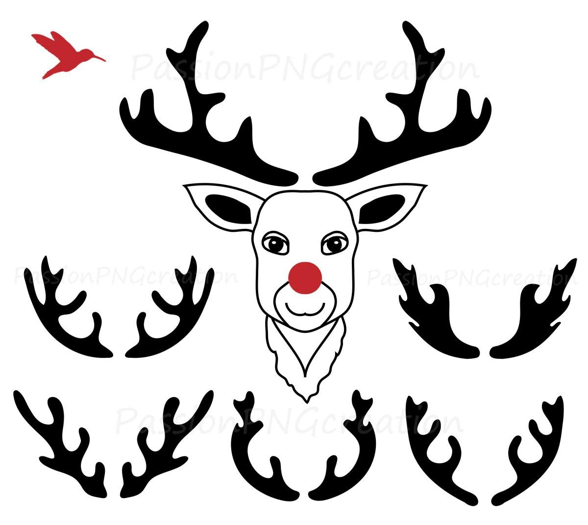 Digitale Geweih Clipart Deer Clipart Silhouette Geweih