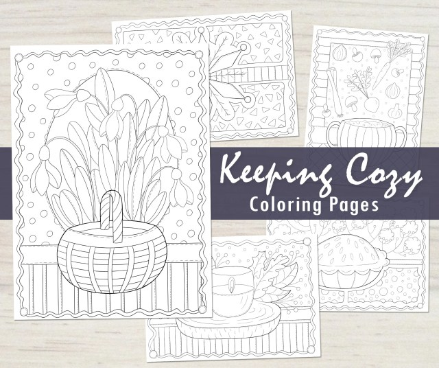 Keeping Cozy Winter Coloring Pages PDF, Mini Coloring Book, Winter Coloring  Page, Printable Coloring Pages, Line Art to Color