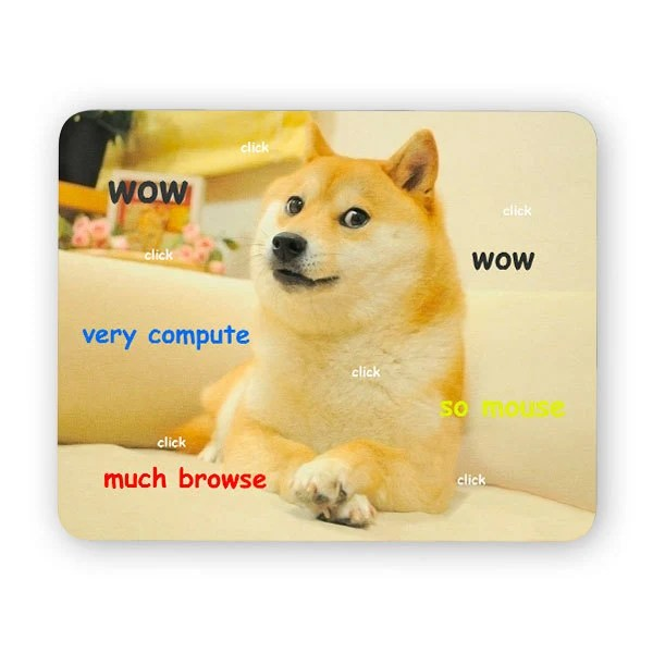 Doge Wow Large Mouse Pad Desk Mouse Pad Meme Mouse Pad Etsy