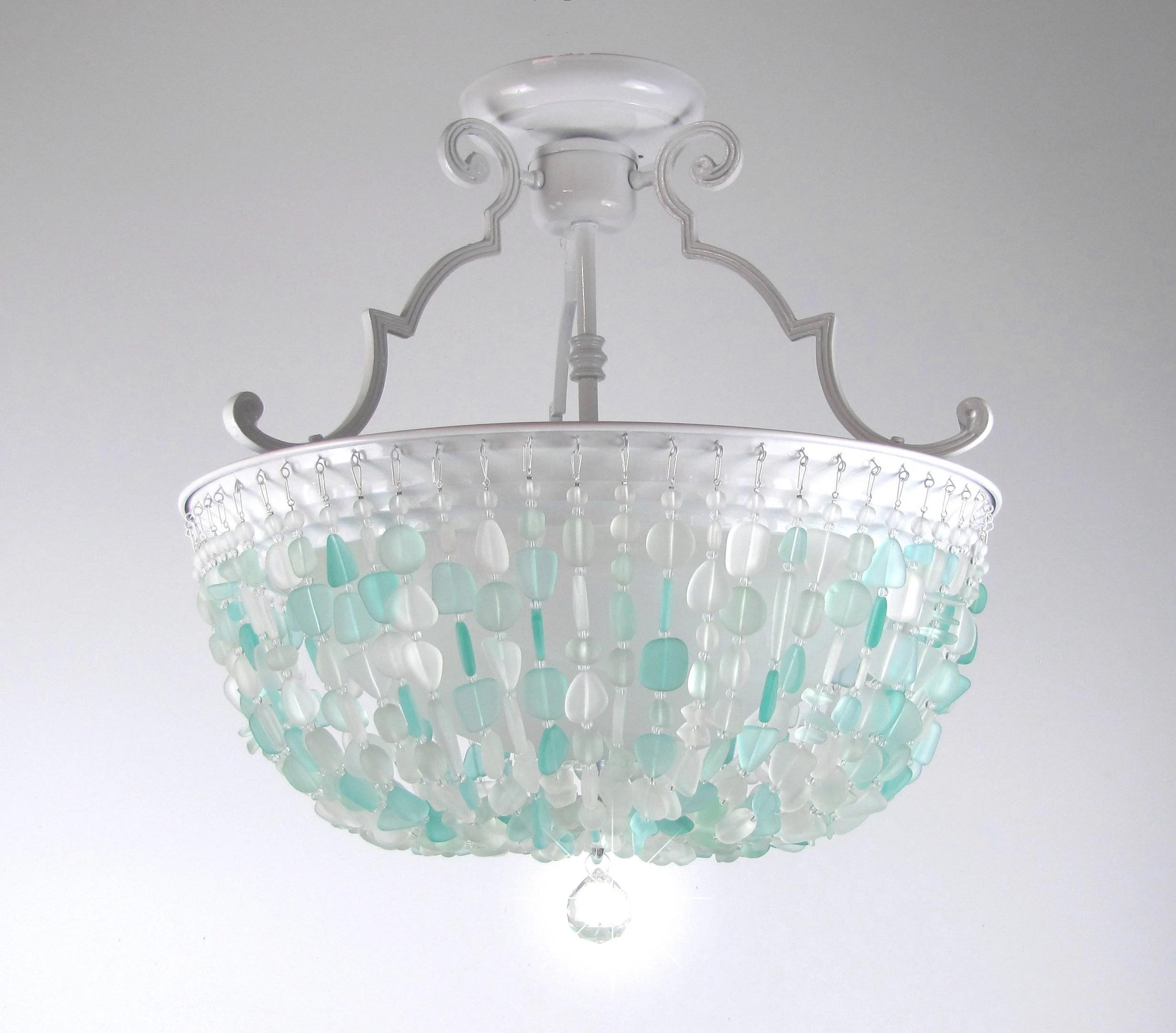 coastal chandelier etsy