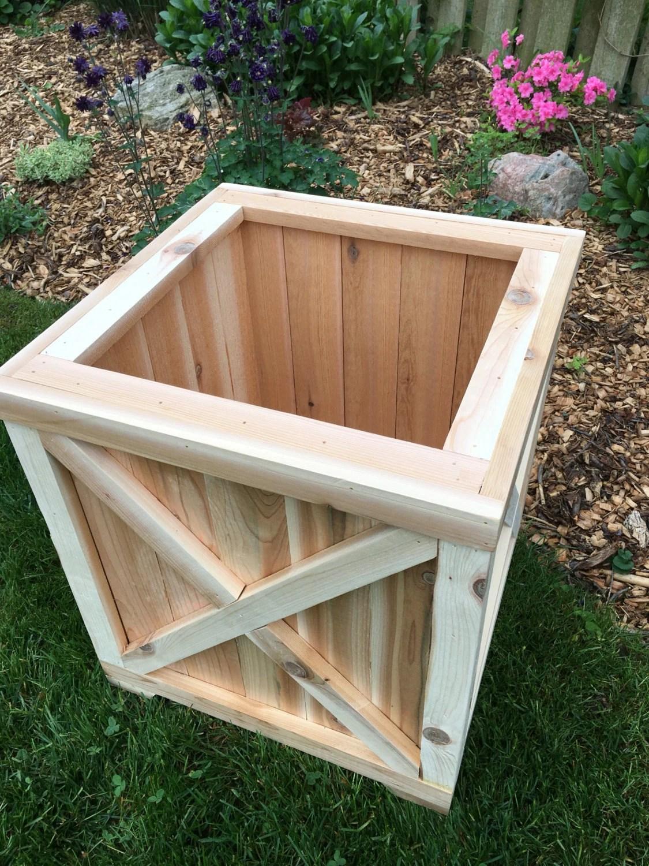 cedar planter box planter wood planter cedar box outdoor wood etsy