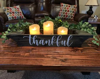 coffee table decorations etsy