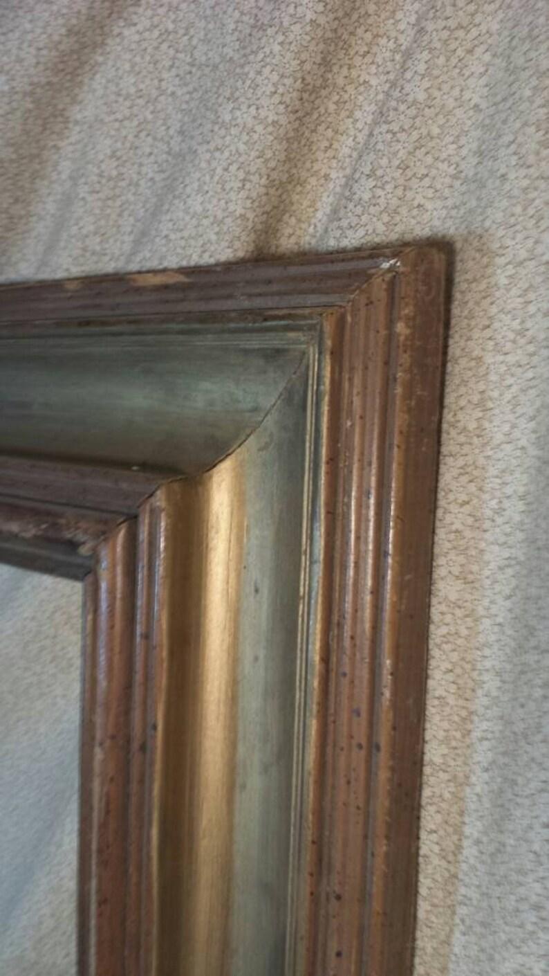 picture art frame vintage wooden large