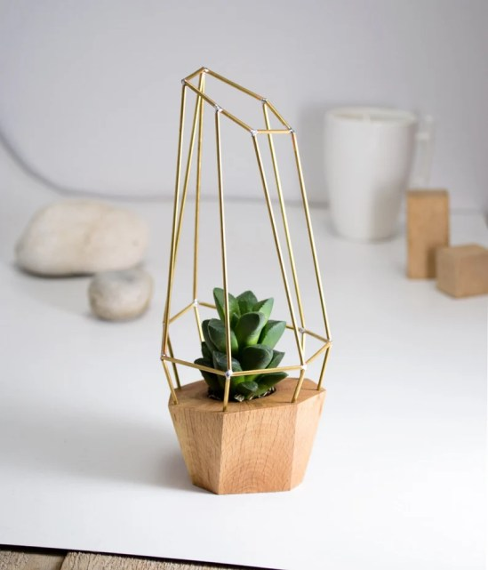 Modern Faceted Geometric Planter for Air Plant Succulent image 0