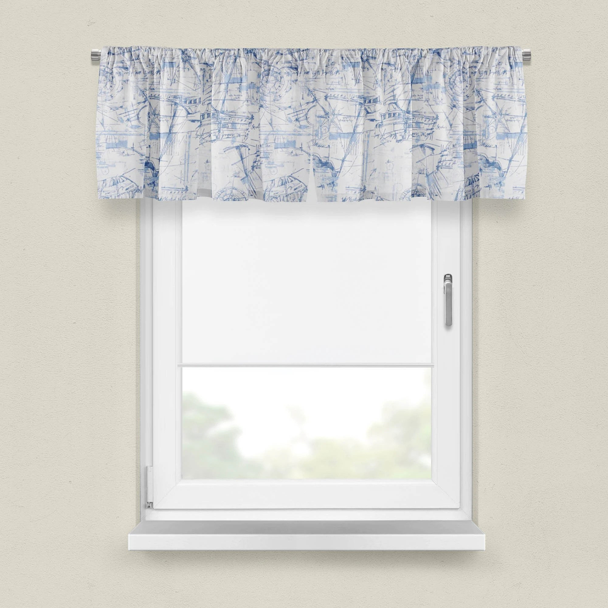 Blue Nautical Valance Premier Prints Schooner Collection